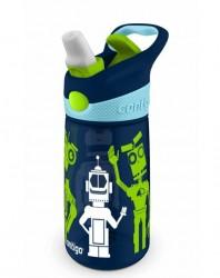 Dětská láhev Contigo Striker 420ml (modrá, roboty)