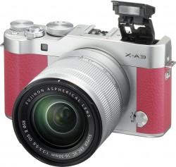 Fuji FinePix X-A3 + objektiv 16-50mm růžový