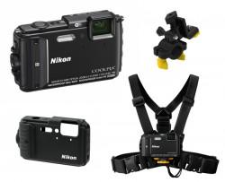 Nikon CoolPix AW130 černý - sada Outdoor