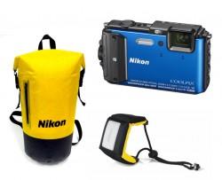 Nikon CoolPix AW130 modrý - sada Diving