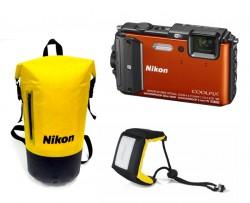 Nikon CoolPix AW130 oranžový - sada Diving