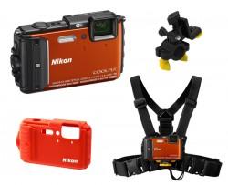 Nikon CoolPix AW130 oranžový - sada Outdoor
