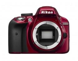 Nikon D3300 tělo, červený, balení od setu