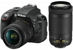 Nikon D3300 + objektivy AF-P 18-55 nonVR + AF-P 70-300 nonVR