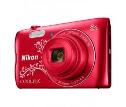 Nikon COOLPIX A300 červený se vzorem