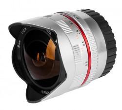 Samyang 8mm f/2.8 UMC Fish-eye Samsung NX stříbrný [8809298882839]