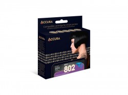 Accura alternativní inkoust Epson T0802, 11,7 ml, cyan 100 % NEW