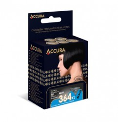 ACCURA inkoust pro HP No. 364XL (CN684EE) black 25ml re.