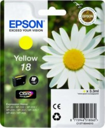 Epson C13T18044010 žlutá (3,3 ml) XP-102/202/205/302/305/402/405/405WH