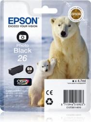 Epson C13T26114010 černý foto (4,7 ml) XP-600/700/800