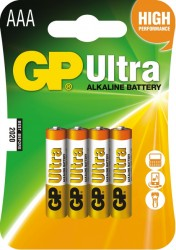 GP Batteries baterie AAA (4ks.)Ultra Alkaline
