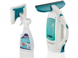 LEIFHEIT 51021 Vysavač na okna Window Cleaner a mop na okna Micro Duo s čističem na sklo