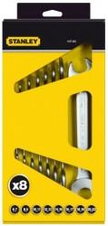 Stanley Sada oboustranných otevřených klíčů 8ks v krabici Maxi Drive 4-87-052
