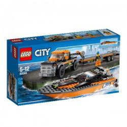 LEGO City Terenní auto s člunem 60085