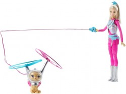 Mattel Barbie Hvězdná kamarádka a létající kočka DWD24