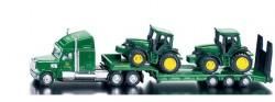 SIKU Farmer - Tahač s podvalníkem a traktory John Deere, měřítko 1:87, 1837