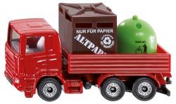 Siku 08 nákladní auto s kontejnery na odpad S0828