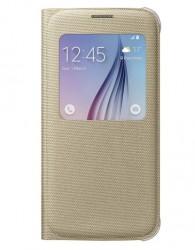 Samsung S View Cover (Fabric) pro Galaxy S6 zlatý