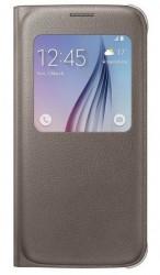Samsung S View Cover (PU) pro Galaxy S6 zlatý