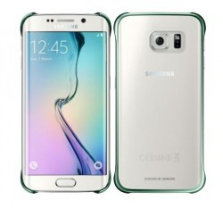 Samsung Clear Cover pro Galaxy S6 Edge zelený