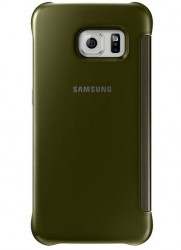 Samsung Clear View Cover pro Galaxy S6 zlatý