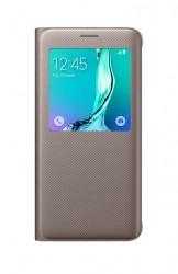 Pouzdro S View Cover pro Galaxy S6 Edge Plus zlaté [EF-CG928PFEGWW]