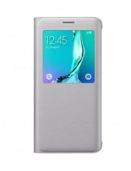 Pouzdro S View Cover pro Galaxy S6 Edge Plus stříbrné [EF-CG928PSEGWW]