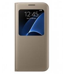 Samsung S View Cover pro Galaxy S7 Edge zlatý [EF-CG935PFEGWW]