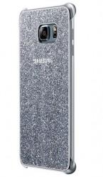 Pouzdro Samsung Glitter Cover pro Galaxy S6 Edge Plus stříbrné [EF-XG928CSEGWW]