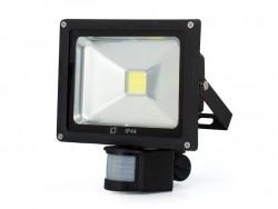LED svítilna ABILITE 20W s pohybovým čidlem / 1200lm / 6500K / studená bílá / IP44 / černá / 45740 / AZBJNXI020CNKBS