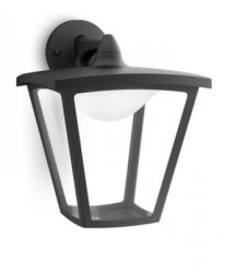 Philips Cottage wall lantern black 1x4.5W