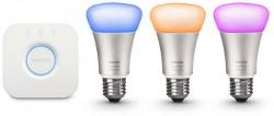 Philips Hue startovací sada + 3 žárovky E27 10W RGBW