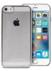 Puro Satin Cover iPhone 5/5s/SE stříbrný