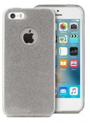Puro Glitter Shine Cover iPhone 5/5s/SE stříbrný