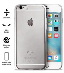 PURO Satin Cover iPhone 6/6s stříbrný