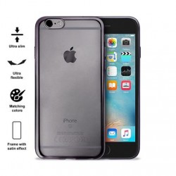 PURO Satin Cover iPhone 6/6s šedý