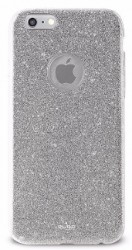 PURO Glitter Shine Cover iPhone 6/6s stříbrný