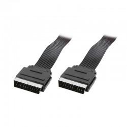 LogiLink Kabel SCART 2m plochý černý