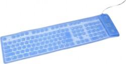Gembird silikonová voděodolná klávesnice podsvícená USB+PS2