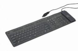 Gembird silikonová voděodolná klávesnice černá USB+PS2
