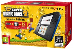 Nintendo 2DS Black + New Super Mario Bros 2