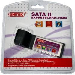 ExpressCard řadič 2x eSATA Unitek