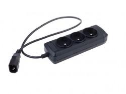Napájecí lišta Natec pro UPS 3 zásuvky černá