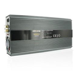 Whitenergy měnič napětí do auta DC 24V-AC 230V 1500W s 2 zásuvkami