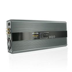 Whitenergy měnič napětí do auta DC 24V-AC 230V 2000W s 2 zásuvkami
