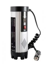 MODECOM MC R015 měnič AC/DC 12V-230V 150W USB Silver