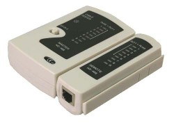 Tester kabelů pro konektory RJ11/ RJ12 / RJ45 Logilink