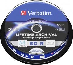 BD-R Verbatim M-DISC Print c.10 ks