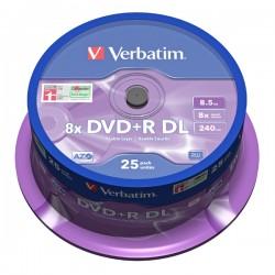 DVD+R Verbatim Double Layer 8.5GB 8x ( cake 25 ks)
