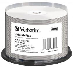 DVD-R Verbatim 4.7 GB 16x (cake 50ks) k potisku Thermal